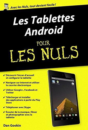 Les Tablettes Android pour les Nuls par Dan GOOKIN