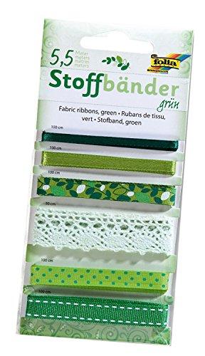 folia 12205 - Stoffbänder, 6 stück, grün