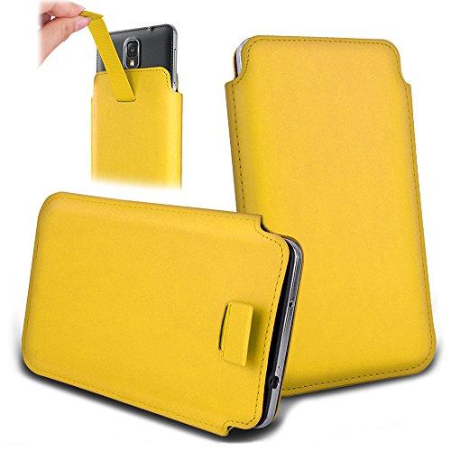 Apple iPhone 5s / 5C / 5 / 4s / 4 Handyhülle mit Designmuster Eulen auf Ast(2) gelb