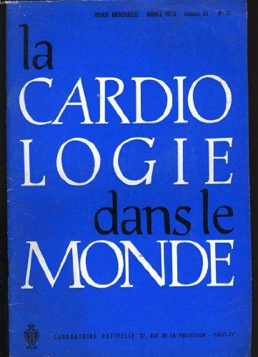 La cardiologie dans le monde. volume 23. n°11.