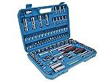 Steckschlüsselsatz Profi Qualität 94 Teile optimal für Roller, Motorrad, Auto, Quad, ATV & Boot