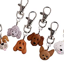 Tfb - Funky White Old English Sheepdog Puppy Dog Clip-on Charm - Gift Box Available