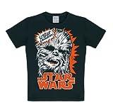 Star Wars - Chewie - Chewbacca T-Shirt Kinder Jungen - schwarz - Lizenziertes Originaldesign - LOGOSHIRT, Größe 170/176, 15-16 Jahre