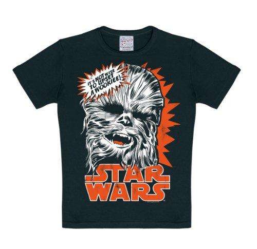 Star Wars - Chewie - Chewbacca T-Shirt Kinder Jungen - schwarz - Lizenziertes Originaldesign - LOGOSHIRT, Größe 158/164, 13-14 Jahre