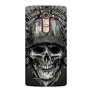 Enticing Grey Skull Terr Back Case Cover for LG G4