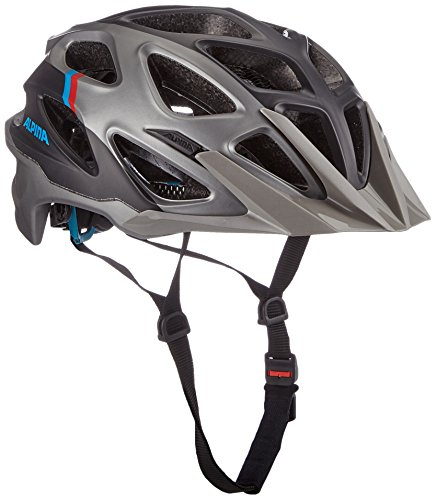 Alpina Mythos 3.0 LE Fahrradhelm, Darksilver/Blue/Red, 59-64 cm