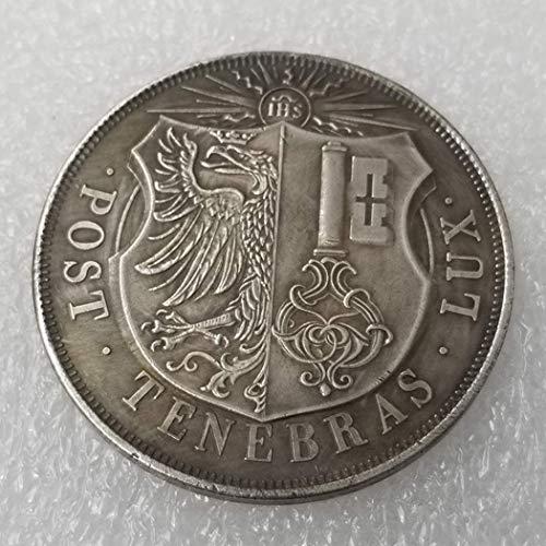 YunBest 1848 Schweizer Franken Alte Münzen - alte Münze zum Sammeln - Ursprüngliche Schweizer Münze - brillant, Nicht zirkuliert/Sammlerzustand BestShop (Münzen Morgan Silber)