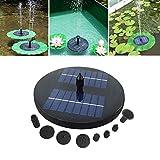 Schwimmende Springbrunnen - Outdoor Garden Solar Springbrunnen, Automatische Bewässerungswasserpumpe im Teich, Gartenteich mit Sonnenkollektor Keine Batterie erforderlich, für Birdbath-Teich und Pool