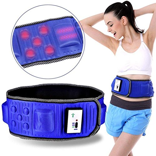 Fascia Addominale Dimagrante Snellente,cintura dimagrante multifunzione regolabile, a vibrazioni elettriche, per il massaggio del corpo e la riduzione del girovita, aiuta a recuperare la linea, blu