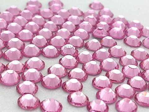 Pack of 1440 Gems, Light Pink ss10 (3mm) EIMASS® 7767 DMC Range Hot Fix Flat Back Rhinestones, Glass Diamantes, Glass Crystals