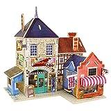 Robotime la Casa di Legno 3D degli Enigmi Musicali Britannici Woodcraft Kit Negozio di Bricolage Regalo di Compleanno di Tipo Globale Casa Natale (British Music Store)