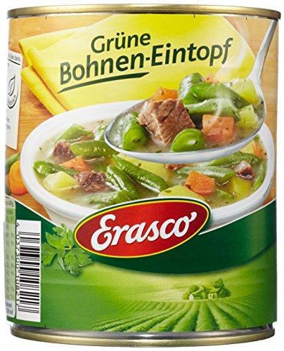 Erasco  Grüne Bohnen-Topf mit erntefrischem Gemüse, 3er Pack (3 x 800 g Dose)