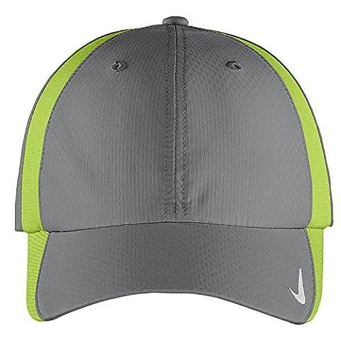 Authentique Nike Sphere Dry rapide Swoosh Profil bas réglable brodé Cap - GRIS CHARTREUSE