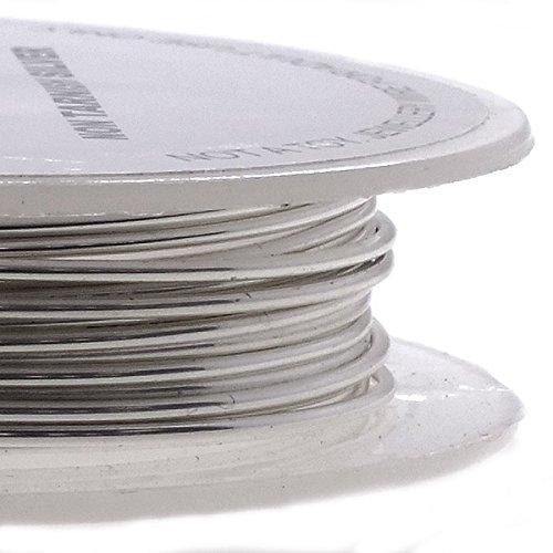 Filo metallico per bigiotteria, 26ga, 0,4 mm, non si ossida, colore argento, 20 m