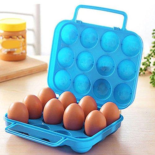 Generic 12huevos Mold: 6/12Huevos Molde plástico alimentos cken bin caja de almacenamiento de huevo Holder cesta portátil huevo cesta transportadora de contenedor caso