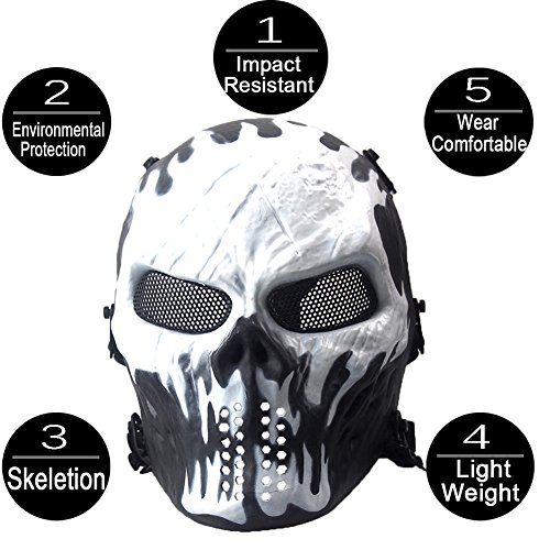 tical Maske Airsoft Spiel CS Army War BB Game Face Schutz Sicherheit Maske Guard giftigen Gas Maske Full Maske militärischen Schutz Halloween-Kostüm Full Maskenkörper Atemschutzmaske (Paintball-arm Guards)