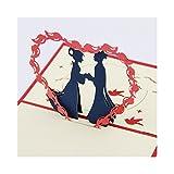JUNHONGZHANG Kubische Leben Doppel Siebten Tag Valentinstag Karte Kreativen Ausdruck Liebe 3D-Kreative Handarbeit Dreidimensionale Grußkarte