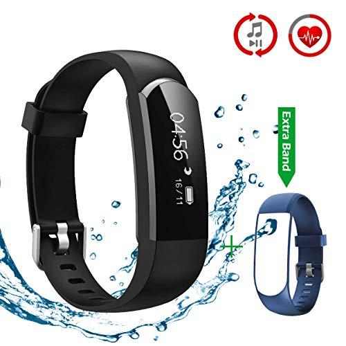 CHEREEKI Pulsera Inteligente Fitness Tracker Monitor de Pulso Cardiaco Deporte Actividad Tracker
