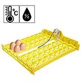Bunao Inkubator Vollautomatische 48 Eier Intelligentes Brutmaschine Inkubator Motorbrüter Hühner mit LED Temperaturanzeige und Feuchtigkeitsregulierung (Schwarz)