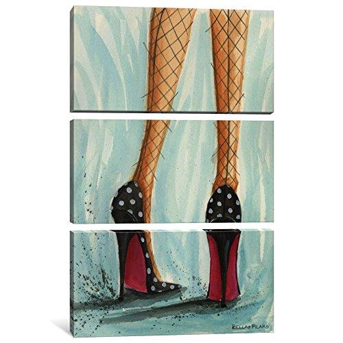icanvasart 3Date Night: Polka Dot Heels Leinwand Kunstdruck Bella Pilar, 0,75von 60von 40