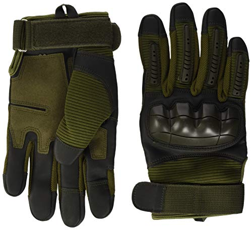 VBIGER Motorradhandschuhe Taktische Handschuhe Vollfinger Handschuhe für Motorrad Fahrrad Airsoft Militär Paintball, Stil 3-armeegrün, L