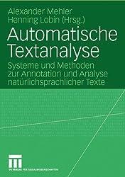 Automatische Textanalyse (Sammlung Philosophie)