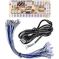 Quimat Cero Retraso de Codificador USB de Arcade para Juego de PC y Bricolaje para Mame Jamma Videojuego de Lucha