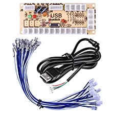 Quimat Zero Delay Arcade USB Encoder PC to Joystick for Mame Jamma & Other PC Fighting Games