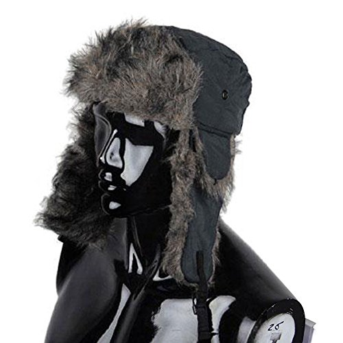 Ski Hut Line (wlgreatsp Männer Frauen Aviator Trooper Winter Thick Kappen mit Ohrenklappen Schnee Ski Caps)