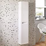 1400 mm Tall White Bathroom Furniture Wall Hung Cupboard Cabinet Storage Unit MF914