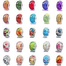 VIKI LYNN - Breloques et Perles pour Bijoux - Idéal pour la fabrication de bracelets - Style aléatoire