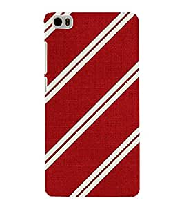 HiFi Designer Phone Back Case Cover Xiaomi Mi 5 :: Redmi Mi5 ( Red White Pattern Design )
