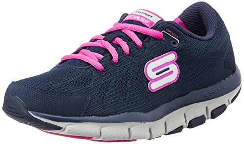 Skechers Damen Liv Go Spacey Training, Blau (Nvhp), 35 EU
