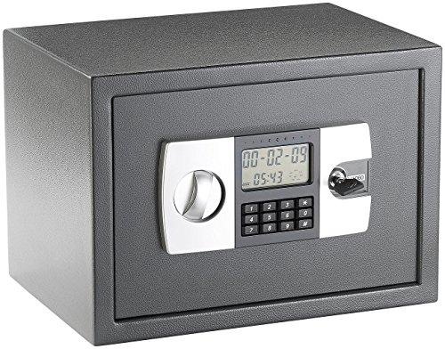 Xcase  Stahlsafe mit digitalem Code-Schloss und LCD-Display, 22 Liter