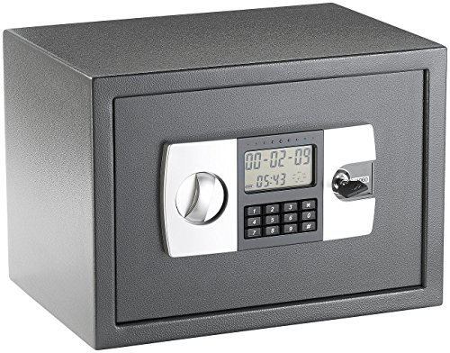 Xcase  Stahlsafe mit digitalem Code-Schloss und LCD-Display, 22 Liter Lcd-digital-safe