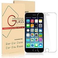 Vetro Temperato per Apple iPhone 6 / 6S - Pellicola Protettiva Trasparente Protezione Schermo Premium Ultra Resistente Anti Riflesso Compatibile 3D Touch (0,25mm HD Alta Trasparenza)