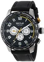 Reloj Sector R3251575001 de cuarzo para hombre con correa de piel, color negro de Sector