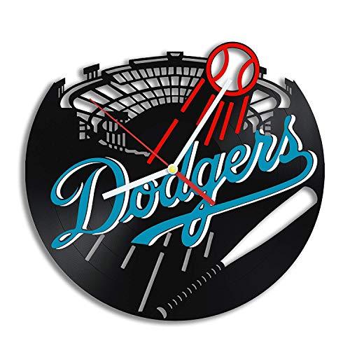 JKDHBSJ gullei. COM Dodgers Baseball Fans Vinyl Musik Record Uhr Geschenk