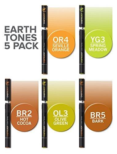 Chameleon Marker Set Erdtöne mit 5 Stiften