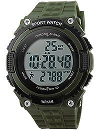 bozlun para mujer para hombre reloj Digital con podómetro cronómetro resistente al agua pantalla LED Militar