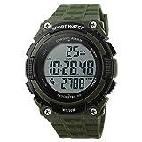 Bozlun donna–Display LED militare impermeabile orologio con contapassi cronometro sport...