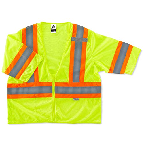 Ergodyne Glowear 8330z class-3 bicolor Weste, 8330Z Polyester Traffic Safety Vest