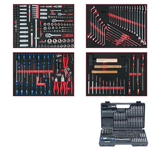 KS Tools 713.0515 Universal-Systemeinlagen-Satz für 4 Schubladen mit 515 Premium-Werkzeugen