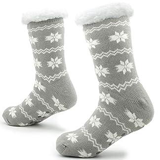 Calcetines Hechos Punto de la Zapatilla para los Hombres con los Deslizadores de la Cama de la Capa de Las Lanas para el Modelo Noruego del resbalón del Hombre 41-44