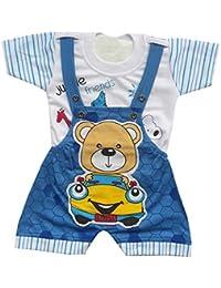 BabyMart Baby Boy's Romper (Stripe_01_Blue_6-9 Months)