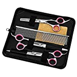 E-More Pet Grooming Scissors Set, Professional Stainless Steel Pet Trimmer Kit, Used for Dog or Cat With 7.5-inch… 8