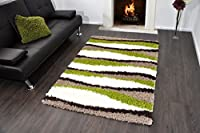 Shaggy Rug 11 Colours 963 Plain 5cm Thick Soft Pile Modern 100% Berclon Twist Fibre Non-Shed Polyproylene Heat Set by AHOC