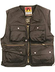 Kakadu Traders Outdoor multifuktions Chaleco River País Field Vest, Unisex, color negro, tamaño extra-small
