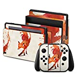 Nintendo Switch Folie Skin Sticker aus Vinyl-Folie Aufkleber Fuchs Vulpes Art