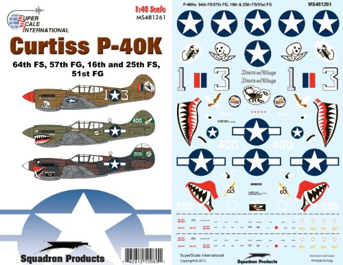 Superscale USA Curtiss P-40Ks Decals
